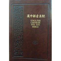 CUNP/KJV Pin Yin Bible Zip Brown