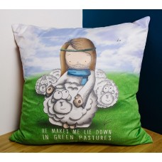Sheepography Psalm 23 Cushion Cover